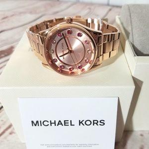 Michael Kors Accessories - NWT Michael Kors  Colette Rose Gold Watch MK6604